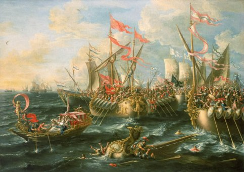 Battle of Actium. Castro, 1672.
